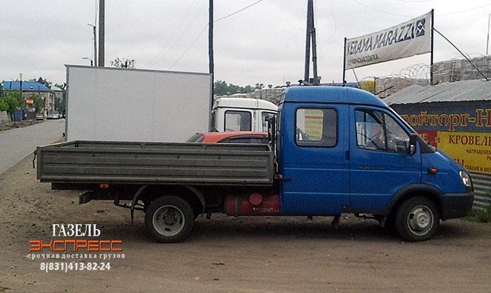 Перевозки грузов Газелью с бортовым кузовом